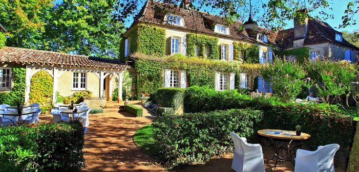 Dordogne Périgord: hotel-restaurant Le Vieux Logis in Trémolat - 1 Michelin-ster