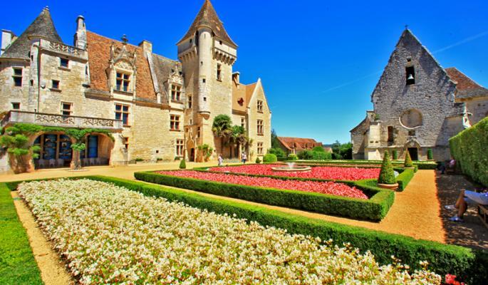 Dordogne - cultuur en historie - kastelen - Chateau des Milandes.