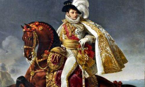 Musee Napoleon de la Pommerie in Cendrieux: Jérôme Bonaparte als koning van Westfalen.