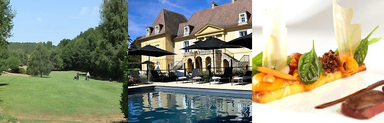 Op Château les Merles golf hotel restaurant in Mouleydier komt al het moois van de Dordogne samen.