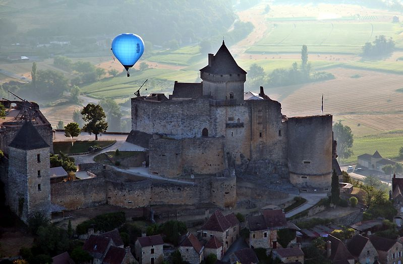In een ballon boven de Dordogne