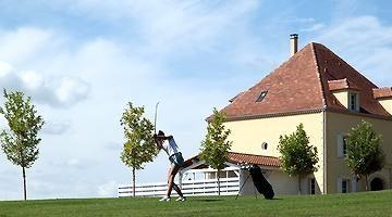Golf Château les Merles bij Mouleydier.