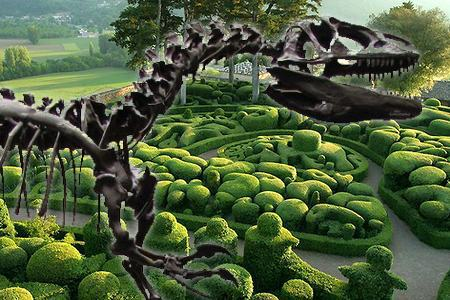 Stukje 'Jurassic Park' in Jardins de Marqueyssac
