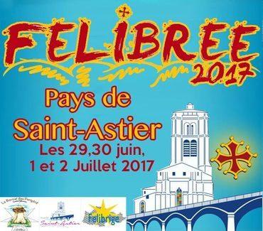 Dordogne Périgord: affiche van de Félibree 2017 in Saint-Astier.