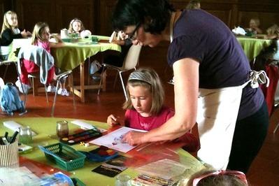 Dordogne Périgord: creatieve workshops (ateliers créatifs) voor kinderen op Château de Hautefort.