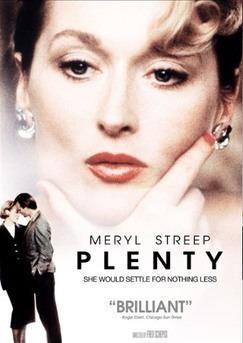 Dordogne Périgord: Château de Hautefort - filmposter van Plenty met Meryll Streep.